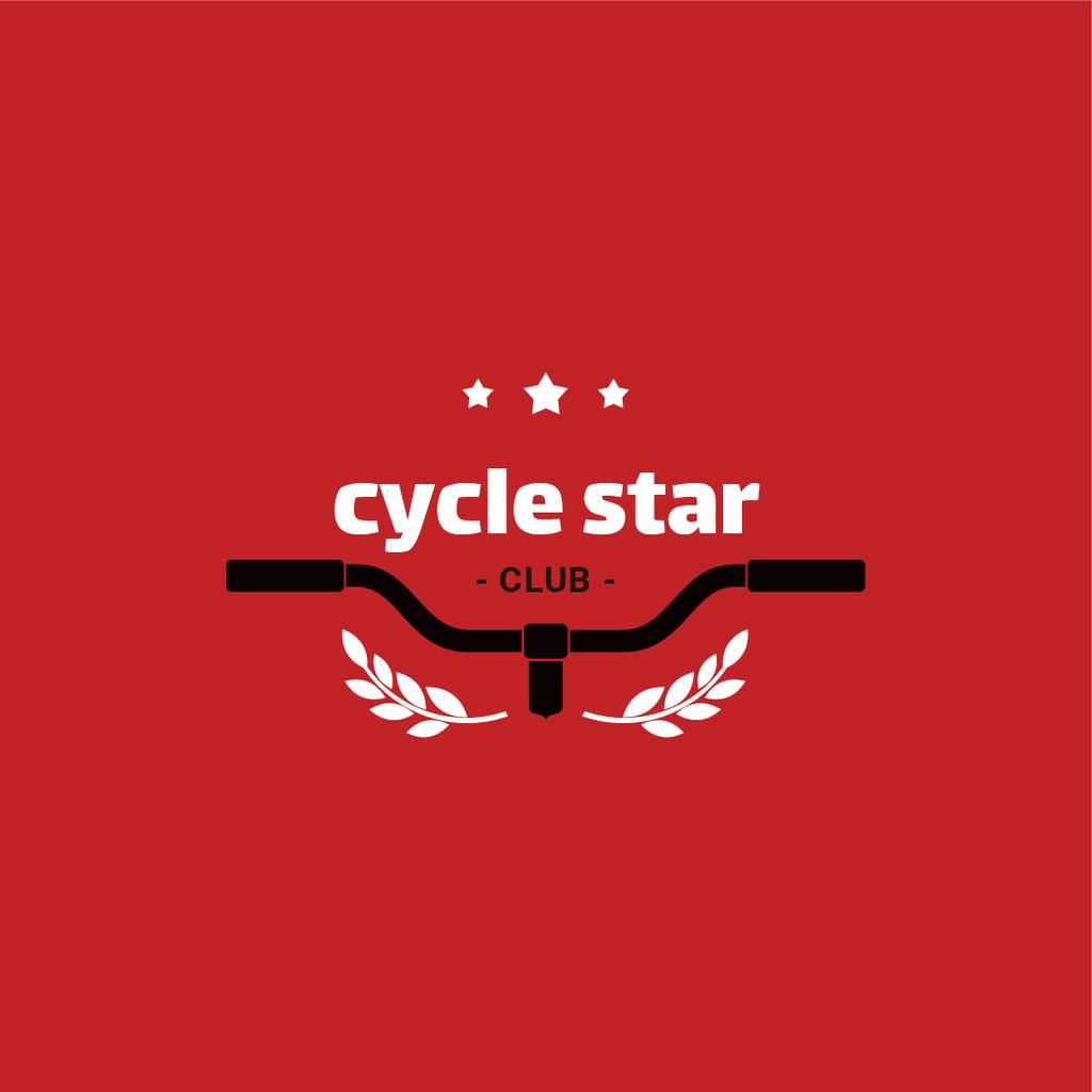 Cycling Club with Bicycle Wheel in Red — Create a Design