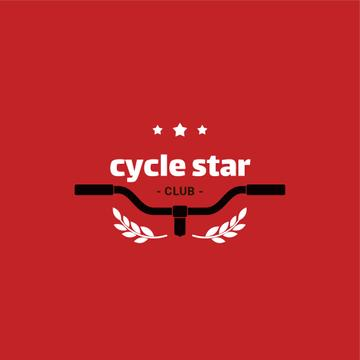 Cycling Club Bicycle Wheel in Red | Logo Template