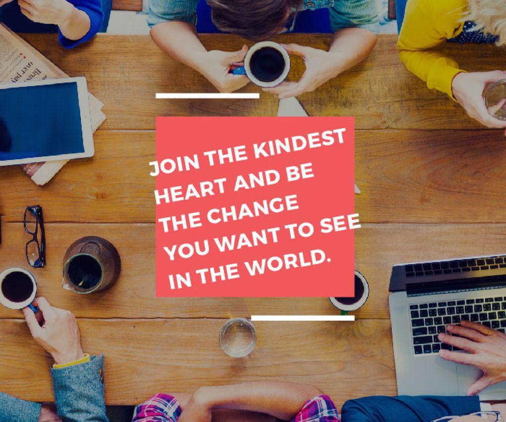 Citation about change the world — Crea un design