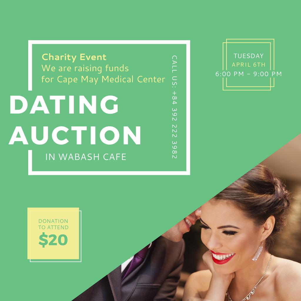 Dating Auction with Smiling Woman — Створити дизайн