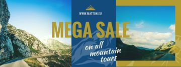 Mountain Trip Sale with Scenic Mountain Road