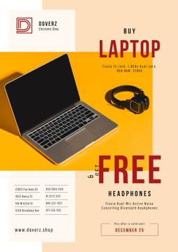 Gadgets Offer with Laptop and Headphones