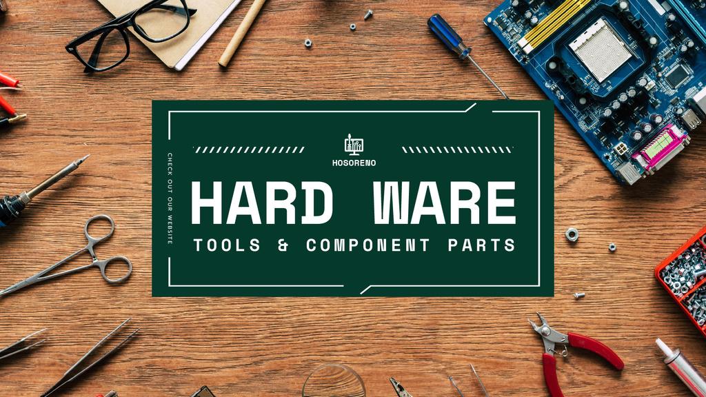 Hardware repair services with Circuit board — Créer un visuel