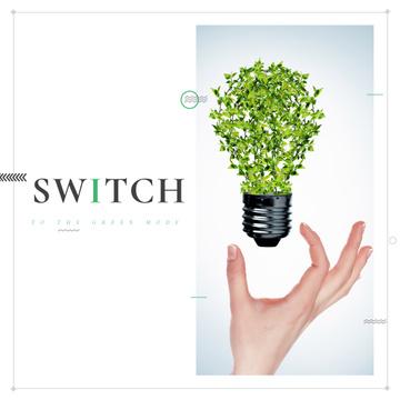 Woman holding Plants Light Bulb