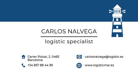 Ontwerpsjabloon van Business card van Logistic Specialist Services Offer