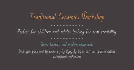 Traditional Ceramics Workshop Facebook AD – шаблон для дизайну