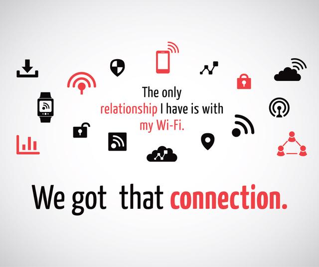 Plantilla de diseño de Wi-Fi technology sign and icons Facebook
