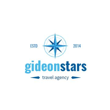 Travel Agency Ad Compass Icon in Blue