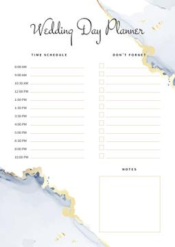 Wedding Day Planner with Watercolour Texture
