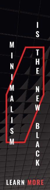 Ontwerpsjabloon van Skyscraper van Citation about minimalism