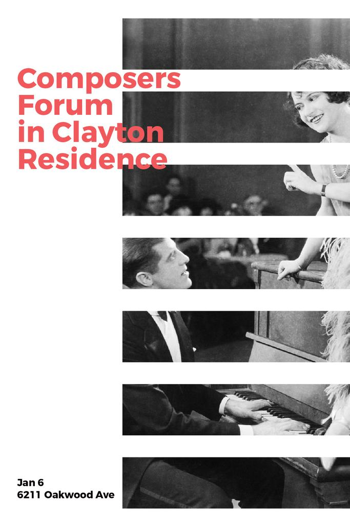 Composers Forum Invitation Pianist and Singer — Maak een ontwerp