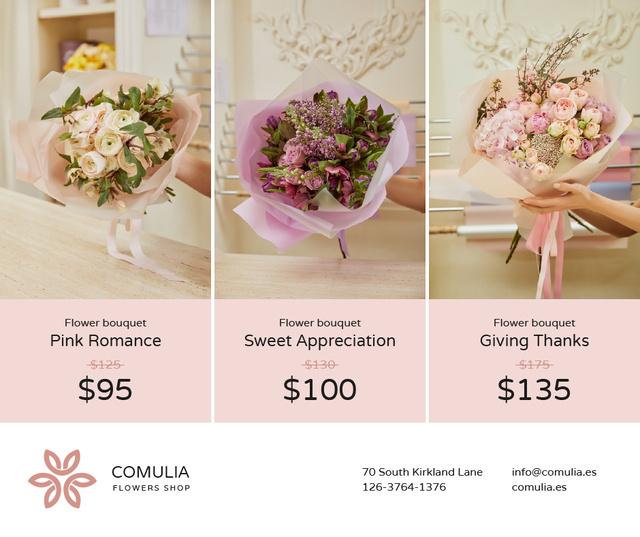 Ontwerpsjabloon van Facebook van Florist Services Offer Bouquets of Flowers