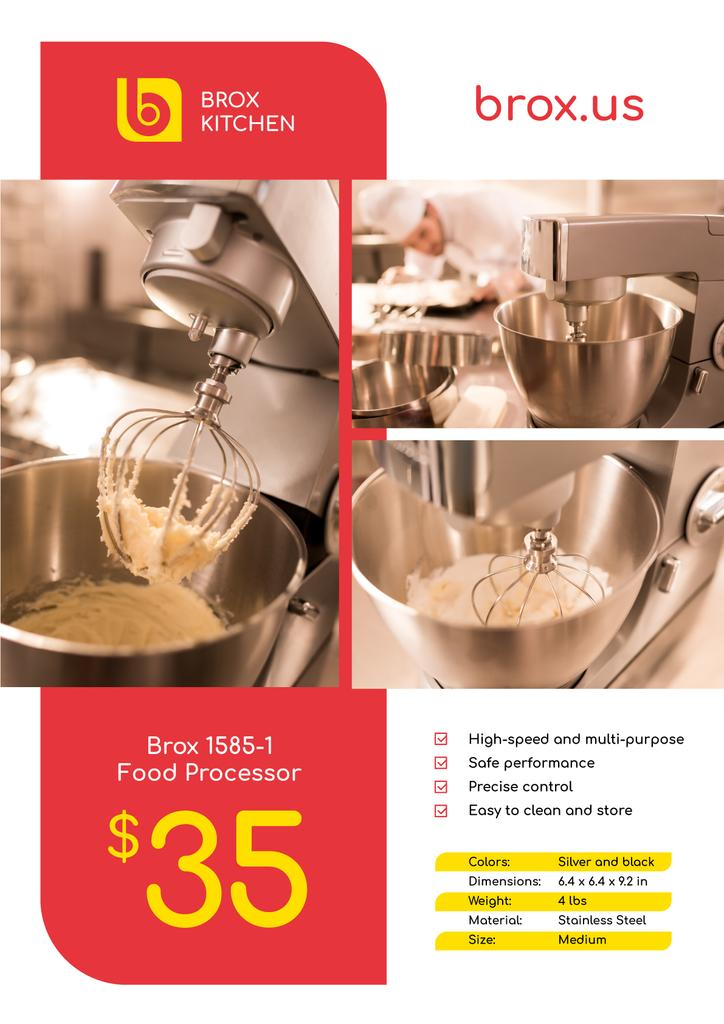 Appliances Offer Kitchen Machine | Poster Template — Создать дизайн