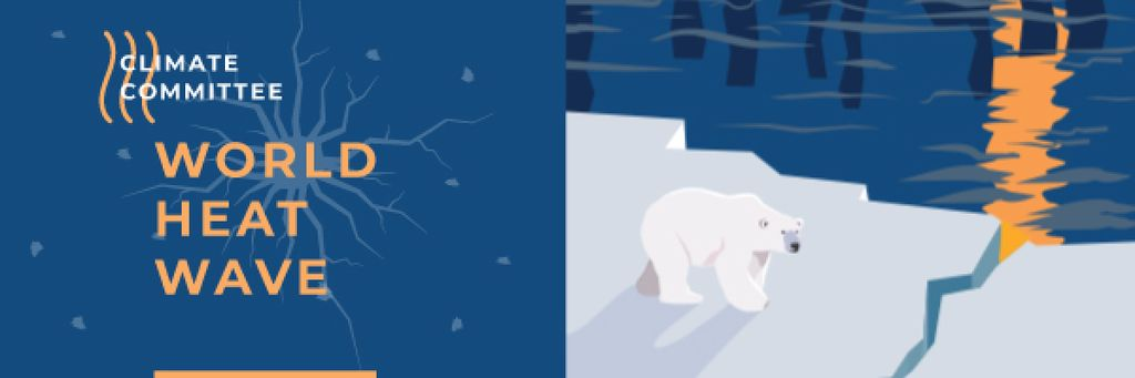 Climate Change Polar Bear on Ice — Maak een ontwerp