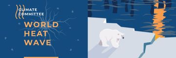 Climate Change Polar Bear on Ice | Email Header Template