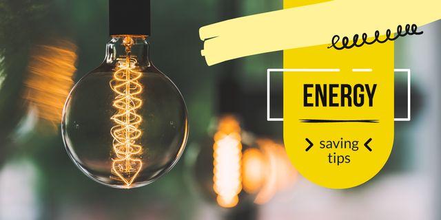 Bulb with warm light Image – шаблон для дизайна