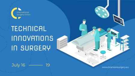 Plantilla de diseño de Medicine Innovations Event Surgeons Working in Clinic FB event cover