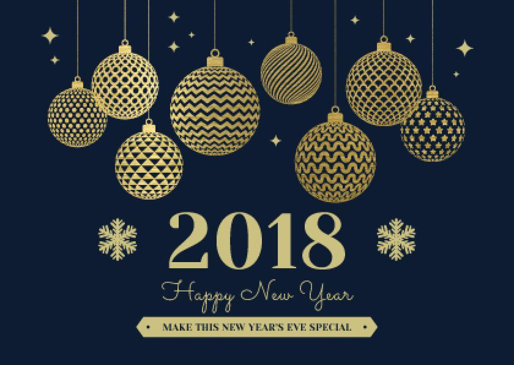 happy new year card plantilla de diseo