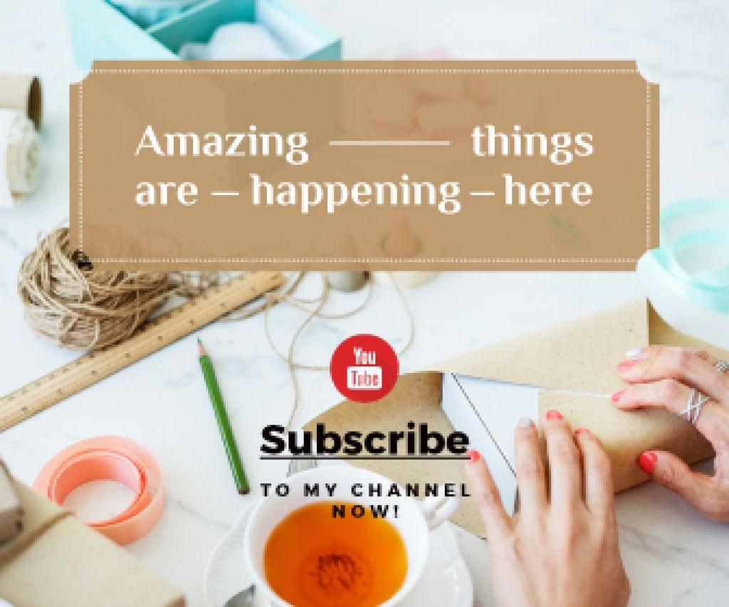 handicrafts youtube channel — Створити дизайн