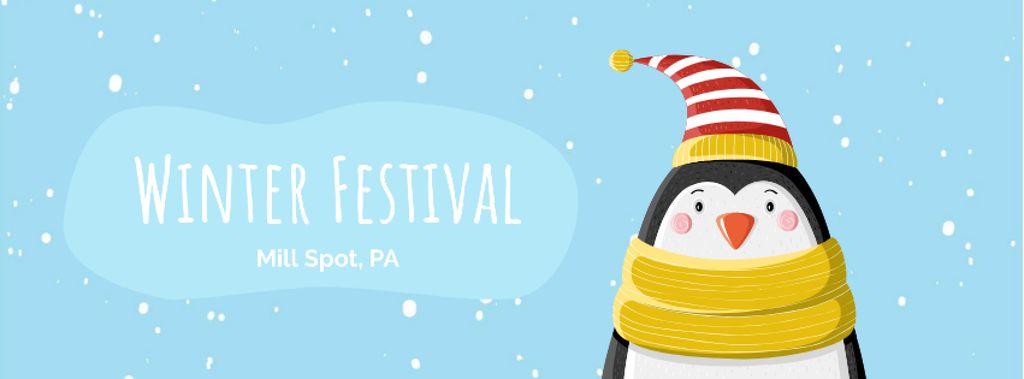 Cute winter penguin in hat — ein Design erstellen