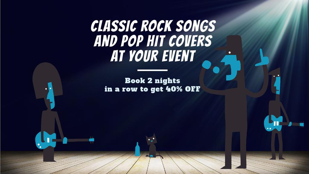 Rock Concert Invitation Band Performing on Stage — ein Design erstellen