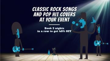 Rock Concert Invitation Band Performing on Stage | Full Hd Video Template
