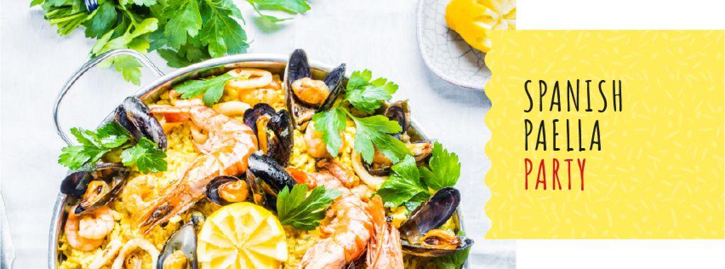 Spanish Paella party celebration — Créer un visuel