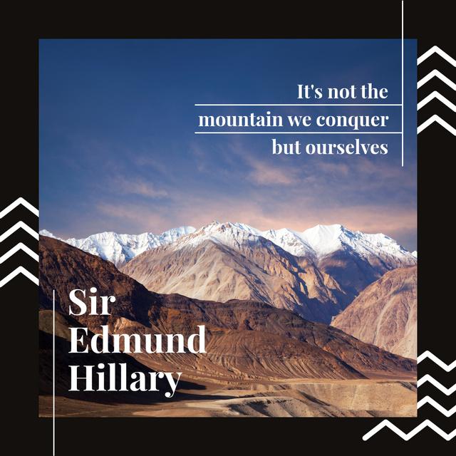 Modèle de visuel Scenic landscape with snowy mountains - Instagram