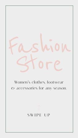 Plantilla de diseño de Fashion Store Ad in Green Frame Instagram Story