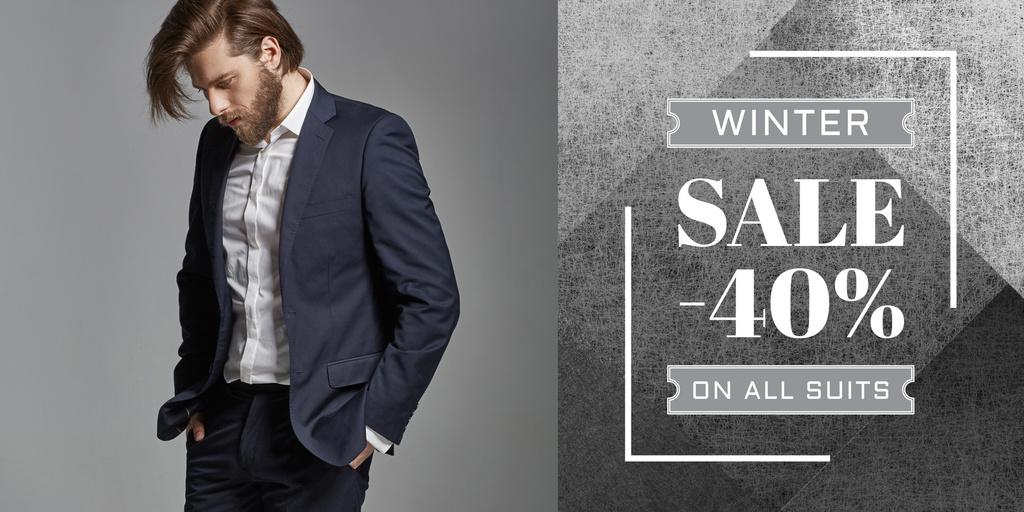 Suits sale banner — Crea un design