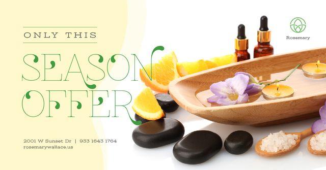Template di design Spa treatment and zen stones Facebook AD
