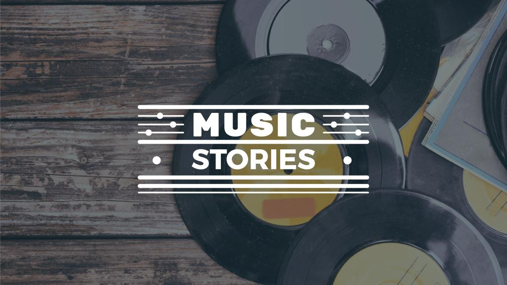 Vinyl records with text music stories — Modelo de projeto