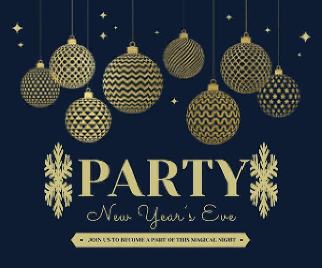 Modèle de visuel Happy New Year card - Medium Rectangle