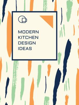 Kitchen Design Ad Colorful Smudges