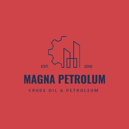 Template di design Petrol Transportation Industry with Cogwheel Icon Animated Logo