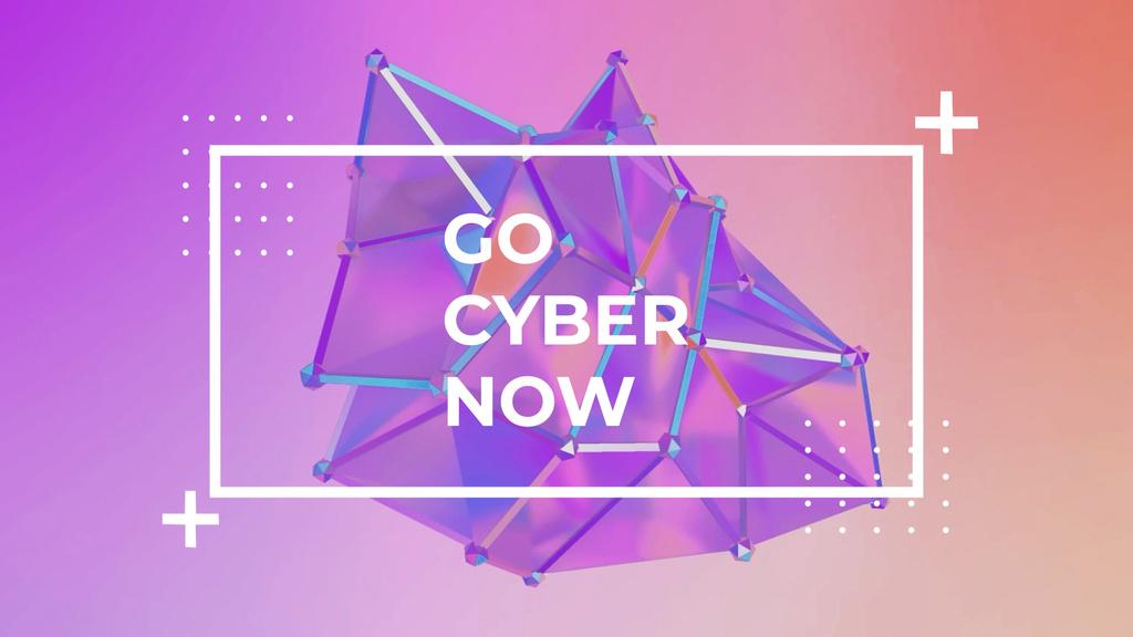 Cyber Monday Sale Digital Shape in Purple — Create a Design