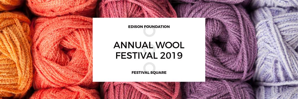 Knitting Festival Invitation Wool Yarn Skeins | Twitter Header Template — Crea un design