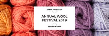 Knitting Festival Invitation Wool Yarn Skeins | Twitter Header Template