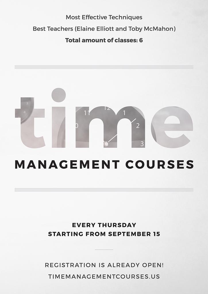 Time Management courses — Crea un design