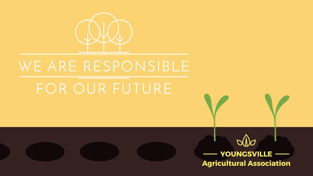 Agricultural Business Farmer Hands Planting Seedlings | Full Hd Video Template — Crea un design