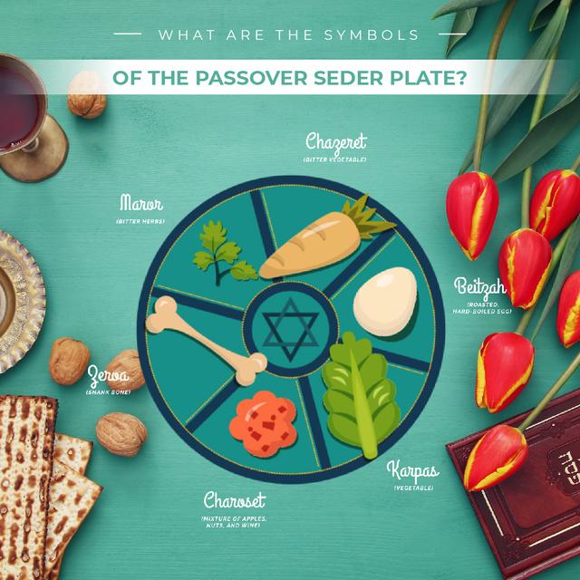 Modèle de visuel Happy Passover dinner table - Animated Post
