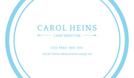 Ontwerpsjabloon van Business card van Camp Director Services Offer