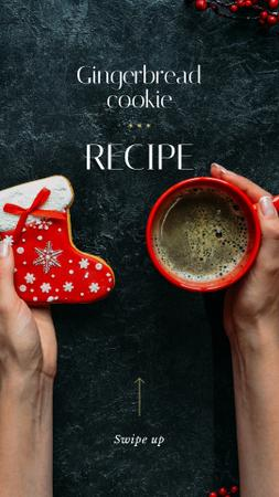 Template di design Christmas Offer Coffee Cup and Gingerbread Instagram Story