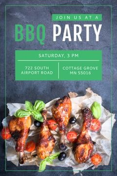 BBQ Party Invitation Grilled Chicken | Pinterest Template
