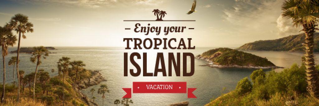 enjoy your tropical island vacation banner — Créer un visuel