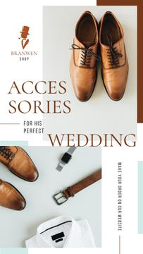 Fashion Ad Groom's Outfit and Accessories | Stories Template