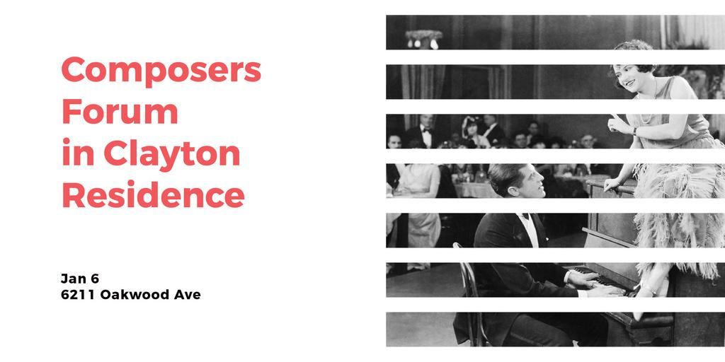 Composers Forum in Clayton Residence Twitter Modelo de Design