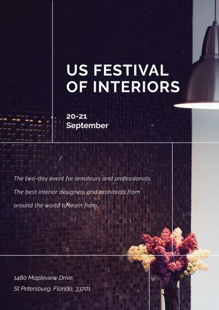 Ontwerpsjabloon van Poster van Festival of Interiors Announcement