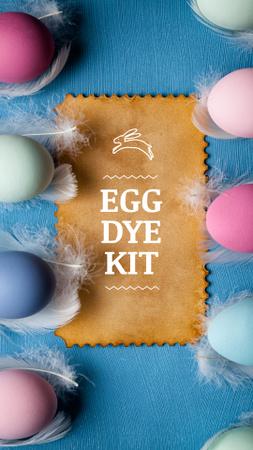 Ontwerpsjabloon van Instagram Video Story van Easter Eggs Decor Offer