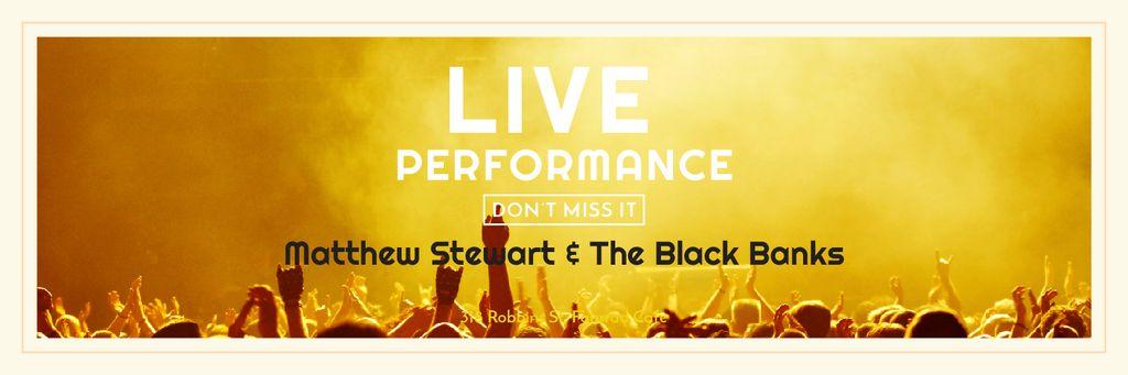 Music Event Invitation Crowd at Concert — Создать дизайн